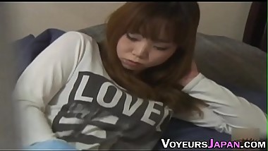 Asian teenager rubbing