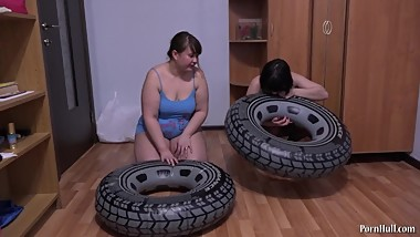Bbw on the blowing circle