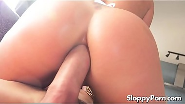 Horny anal blonde Amber Dee