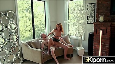 5KPorn - Redhead Schoolgirl Slut With a Fat Ass Creampied