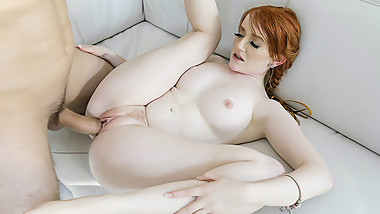 BraceFaced - Barely Legal Ginger Teen Bounces On a Huge Cock