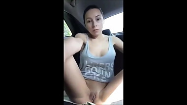 Name the Whore- Teen Slut Masturbates in Car For World 2 See