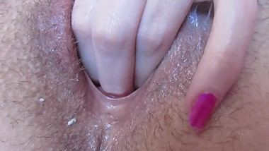 Close up wet Pussy fingering after orgasm