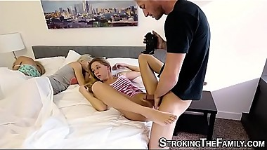 Teen stepdaughter filmed