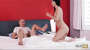 OLD4K. Pretty girl fucked well by partner in old and young video