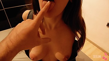 Horny Girlfriend Fucking after Party SEXLUNI