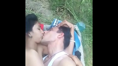 Newly Married Indian Couple Enjoying