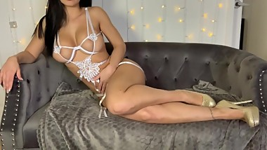 JOI in my white lingerie