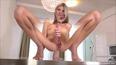 Petite Teen Gina Gerson Plays Her Pussy With Dildo
