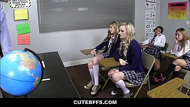 Cute High School Best Friends Sex Ed Class Orgy