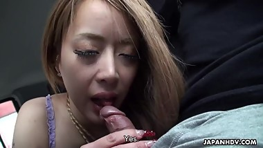 Slutty ass Asian babe getting fucked doggy