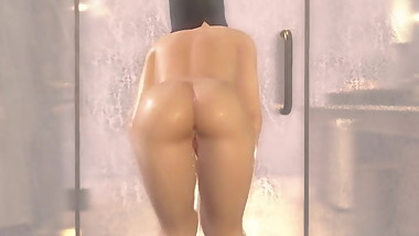 Nyotengu in the bath (DOAXVV Nude Mod)