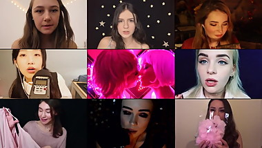 ASMR COMPILATION BY CUMANGELS (CUTEST GIRLS SPLITSCREEN)