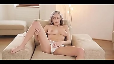 Fingering love tunnel is the hottest element of her softcore session