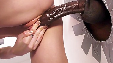 Hannah Hays Sucks Big Black Cock - Gloryhole