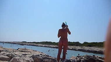 nudist girl in croatia CMNF 1