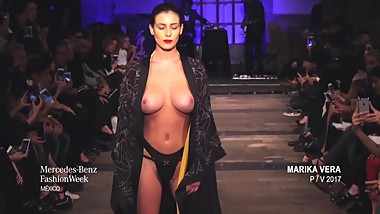 Alejandra Guilmant Big tits Topless in Mexico Fashion Week 2016