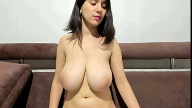 Brunet with nice pussy and tits on webcam