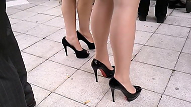 Sexy High Heels Girls Outdoor