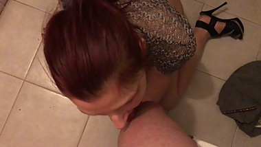 4k Horny Kinky Russian Teen in shiny sexy pantyhose lick and kiss boy legs