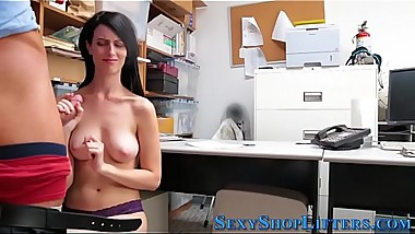Slutty shoplifter spermed