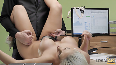 VIP4K. Tanned beauty passes dirty porn casting in the loan