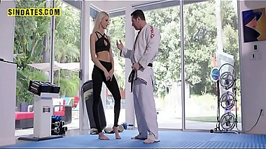 Hot blonde from Sindates gets fucked by his instructor
