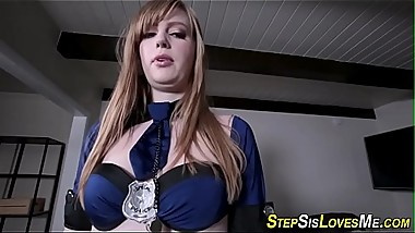 Teen stepsis tugs shlong