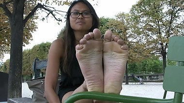 Sexy French Cambodian Feet Soles Foot Fetish