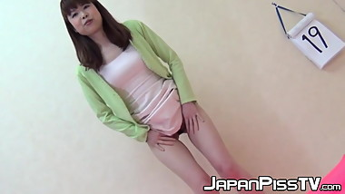 Pissing Japanese babes being naughty and having fun