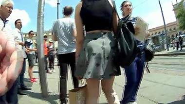 Sexy Teen In Dress Candid 10.05.2018.