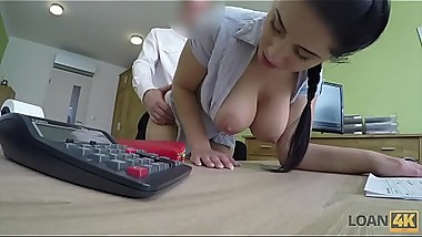 LOAN4K. Big boobs and ass of Alex makes tricky agent very horny