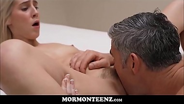 Mormon Teen Squirting Orgasms While Being Fucked By Church President In Front Of Boy