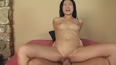 She is on top of a cock and the ride is prescious