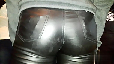 ASS IN LEATHER PANTS