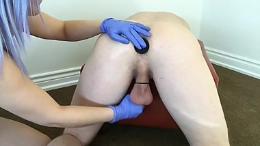 Prostate exam turns NASTY, MILKED and cum poured in ass!!
